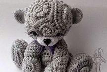 animali freeform in lana