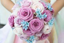 結婚式 / 結婚式で実際に使ったアイテム、装花、テーブル装花、ブーケ、ヘアセットなど