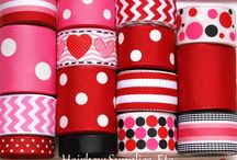 HSE Valentine's Day / Your One-Stop Hairbow Supply Shop!  Solid and printed grosgrain ribbon, alligator clips, silk flowers, 60 styles of fold over elastic, glitter elastic, lace elastic, rhinestone buttons, and so much more!   / by Hairbow Supplies, Etc.