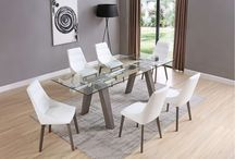 Modern Extendable Dining Collection in Grey Finish