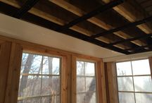 Leaky ceiling under deck repair. / RainTIght is on the job again to help a home owner from a poorly installed product that is leaking into their screen room walls. See how we make over this room in just a few days.