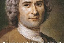 Jean-Jacques Rousseau / Important role played in French Revolution.  www.LibertyKey.US