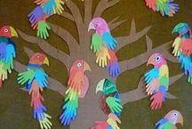 copac cu papagali