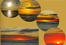 Sunset scrapbook pages