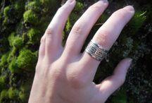 Vintage Rings / Vintage silver rings, brooch, pins