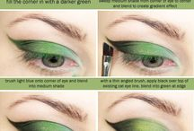 Halloween costumes & makeup / Green witch eye