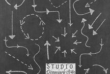 Chalkboard Backgrounds and Graphics