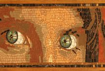 Mosaic Eyes and Portraits / Mosaic Portraits and Eyes. In 2012 I started a serie of Mosaic Eyes. Eyes are fascinating. They are the first thing you generally pay attention to when you meet someone for the first time, and they make wonderful themes of poignant mosaics.
