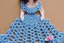 Rosas de crochês