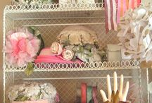 Pretty in Pink / We have a large pink area in our shop..it makes us smile and our customers have been known to squeal in delight when they see it!