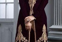 Velvet clothes indian