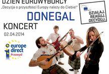Dzień Eurowyborcy - 2 kwietnia 2014 / Decyzja o przyszłości Europy należy do Ciebie!  Koncert Donegal Klub Studencki Zemsta Docenta