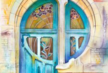 Akvarelové umenie