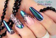 Mirror chrome nails