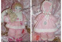 ✿⊱╮BAMBOLE DI STOFFA - BEBE' ROSA ✿⊱╮ / Bambola imbottita cucita interamente con ago e filo ...cuciture nascoste con passamaneria e merletti.