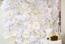 Gorg paper flower wall art idea