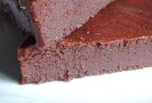 gateau chocolat et compote