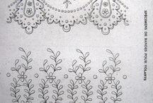 embroided design for gera of kurtas