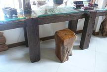 aparador de traviesas de tren / aparador de traviesas de tren de madera de Hierro de Indonesia. producto ecológico