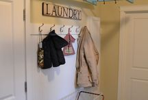 laundry room ideas for a small space  / Updating the laundry room. Need ideas for a VERY small laundry room including laundry room storage, laundry room signs, laundry room colors, etc. / by Heather Brummett