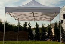 Tentes pliantes Garden / Des tentes pliantes professionnelles et légères avec une armature aluminium.