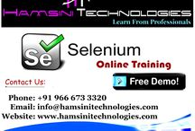 Selenium Online Training in Hyderabad / Hamsini Technologies main ambition and goal is every student should get a job with Trainings. Yes Online or Classroom whatever trainings you choose our faculty will give you the great knowledge and live experience.Selenium Training in Hyderabad around the world will make you successful in IT Market. We know the requirement of present IT Market. Email Id: info@hamsinitechnologies.com, Phone: +91 9666733320.