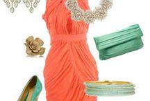 Eccentric Designs Dream Aqua and Coral Wedding