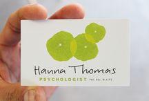 Cartão de visitas / Ideias para cartão-de-visita visitas para psicólogo