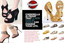 Footwear / cindrella shoes