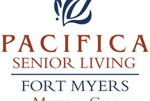 Pacifica Senior Living Fort Myers / Situated in vibrant Fort Myers, FL, our Pacifica Senior Living community offers full-service memory care programs, providing a warm, inviting and familiar environment for residents with Alzheimer's disease and other forms of dementia. Our community focuses on programs that help individuals with memory loss to thrive while managing the issues of dementia.