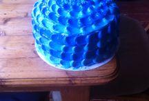 Intens blue velvet cake / Blue velvet cake filling with blueberrys and cream cheese
