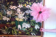 Family Workshop Rose Budd 30.7.14 / Make a giant bloom thaqt's perfect whatever the weather.  Inspired by the Flowers and Still Life room in the Garman Ryan Collection. Its the 40th Anniversary this year.