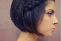 Black Straight Short hair