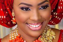 African beauty headgear