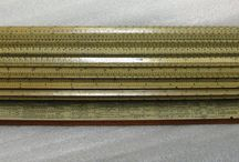 Slide Rules / What do Isaac Newton, Thomas Jefferson, Albert Einstein, and Apollo astronauts have in common?  They all used slide rules!  These were used by NIH scientists.