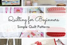 Beginner Quilt Patterns / Learn how to quilt from start to finish with this collection of beginner quilt patterns, simple quilt patterns and more! These easy quilt patterns are ideal for brand new quilters.