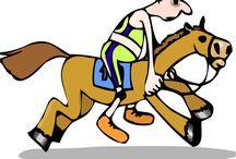 Le cheval en clipart / Quelques cliparts représentants des chevaux.
