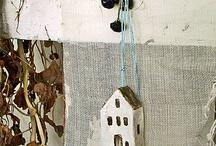 Papier mache house/dolls