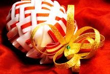 Fabric and Ribbon Ornaments / by Judith Overton