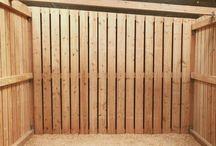 Zubehör für unsere Außenboxen / Weidehütten / partition wall divider  Ringbalken Erdnägel Pfosten   accessories