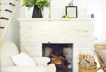 Living room & fire place / by April Brover