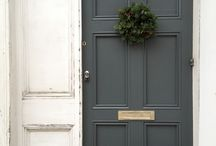 Front Doors & Porches / Front Door Paint Colors, Porch Decorating and More!