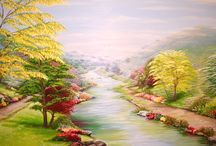 Large canvas murals