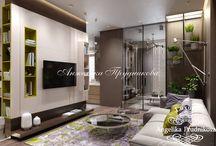 Дизайн интерьера квартиры в стиле хай-тек в ЖК Северный Парк / Дизайн для этой прекрасной квартиры в ЖК Северный Парк разработан студией Анжелики Прудниковой. Благодаря стилю хай-тек в проекте интерьера дома соединили функциональность, красоту, уют и комфорт. Элементы декора передают простоту и элегантность квартиры. Мебель располагается по краю комнат и заметно увеличивает пространство жилища.