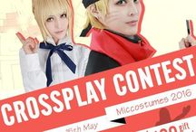 Miccostumes 2016 CROSSPLAY Contest / We are holding a crossplay contest on Facebook! Now it's time again to show your love for cosplay. Enter your life photo and crossplay photo for a chance to win a $100 gift card, a $50 gift card or a $20 gift card from Miccostumes cosplay store!