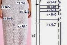 вяжем платье(схемы)