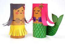 Tuvalet Kağıdı Rulosu / Tuvalet Kağıdı-Kağıt Havlu rulosundan kendin yap oyuncak, etkinlik, dekorasyon malzemesi vs vs