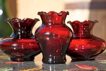 Ruby Red Depression glass