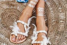 BOHO LUXE SANDALS / Sandals, slippers, boots for the global gypsy