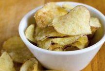 chips de pommes de terre au micro onde